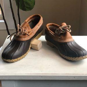 LL Bean duck shoes - rubber moccasins